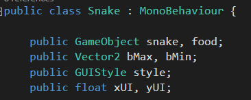 [TUTORIAL] Snake com Unity + C# Untitled-7