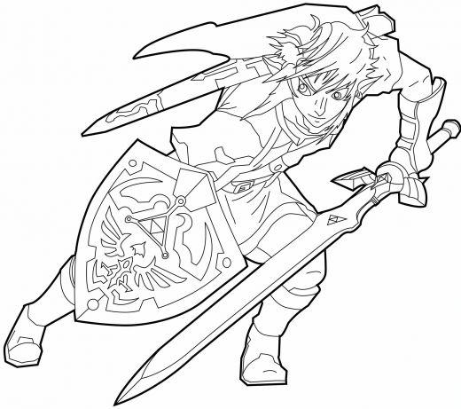 Desenhos Do Zelda Para Colorir