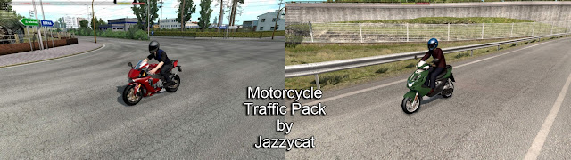 ets 2 motorcycle traffic pack v2.1 by jazzycat screenshots 1