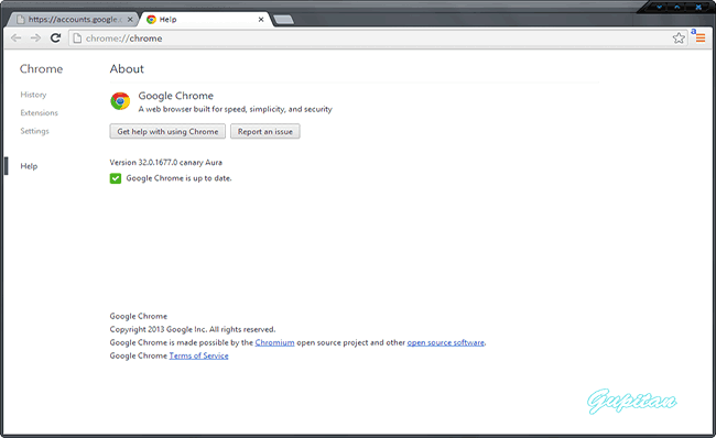 Chrome Versi:  Dev Beta Stabil Canary [Gupitan]