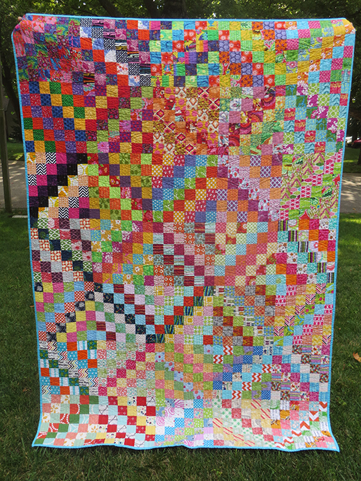 A Scrappy Trip Around the World Quilt Free Pattern