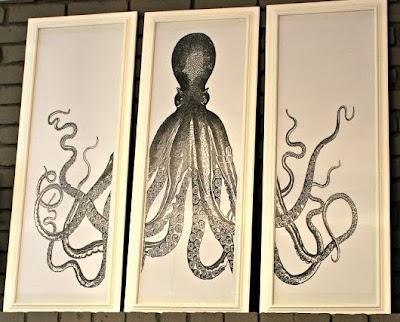 free diy octopus triptych