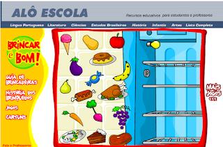 http://www2.tvcultura.com.br/aloescola/infantis/brincarebom/jogos-comidas.htm