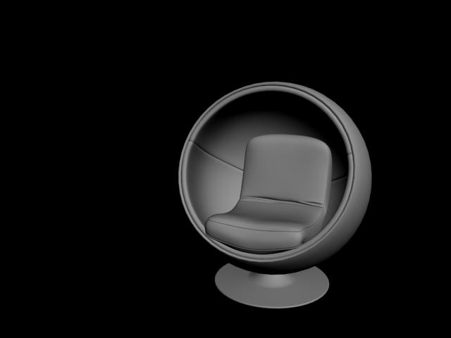 Oval Sandalye 3D Model