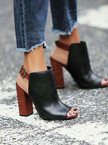Tone back and brown heels