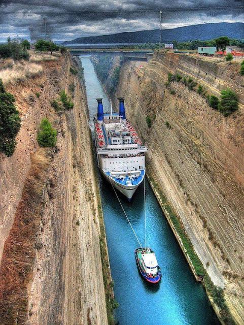 The Corinth Canal Isthmus, Corinth, Greece