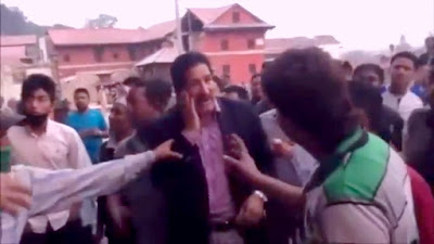 ganesh thapa slapped in pashupatinath