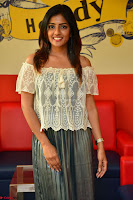 Eesha in a cute deep neck top and Skirt at at Big FM 066.JPG