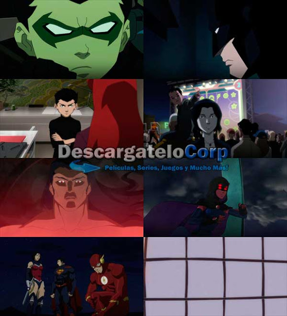 Liga de la Justicia vs Los Jovenes Titanes DVDRip Latino