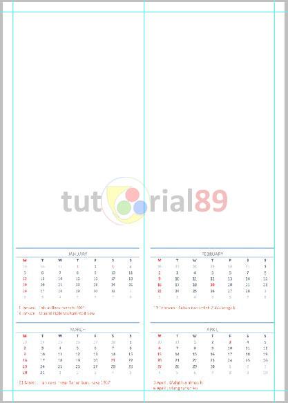 Cara membuat kalender  Excel dan Photoshop