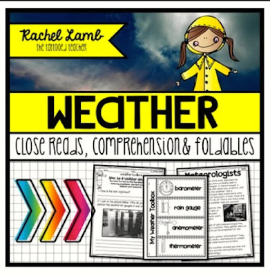 https://www.teacherspayteachers.com/Product/Weather-leveled-Close-reads-passages-questions-interactive-notebook-foldables-1127449