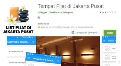 aplikasi untuk mengetahui info alamat dan nomor hp tukang pijat plus untuk daerah jakarta