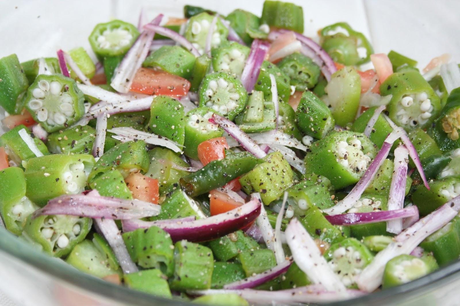 Aasai rasai sri lankan recipes sri lankan okra salad bandakka sri lankan okra salad bandakkaladies fingers veganvegetarian an easy sri lankan forumfinder Images