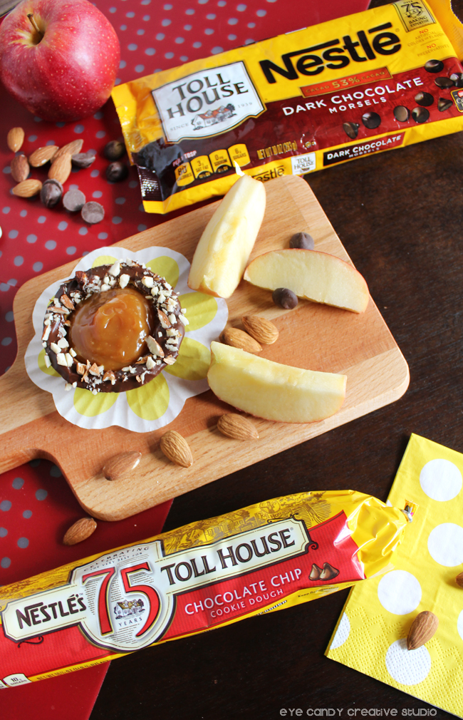 nestle toll house recipes, cookie dough, chocolate chips, apples, caramel