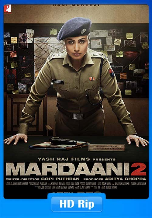 Mardaani 2 2019 Hindi 720p HQ DVDScr x264 | 480p 300MB | 100MB HEVC