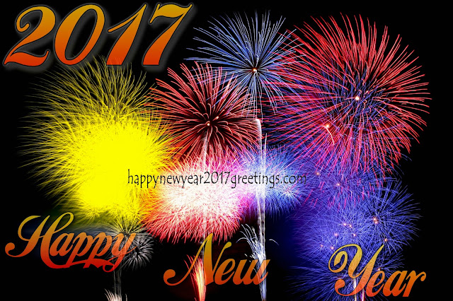Happy New Year 2017 Fireworks Greetings