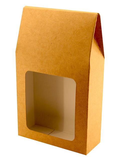 Pudełko tekturowe podarunkowe z okienkiem np. na herbatę
