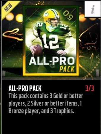 madden mobile maniacs are all pro packs worth it