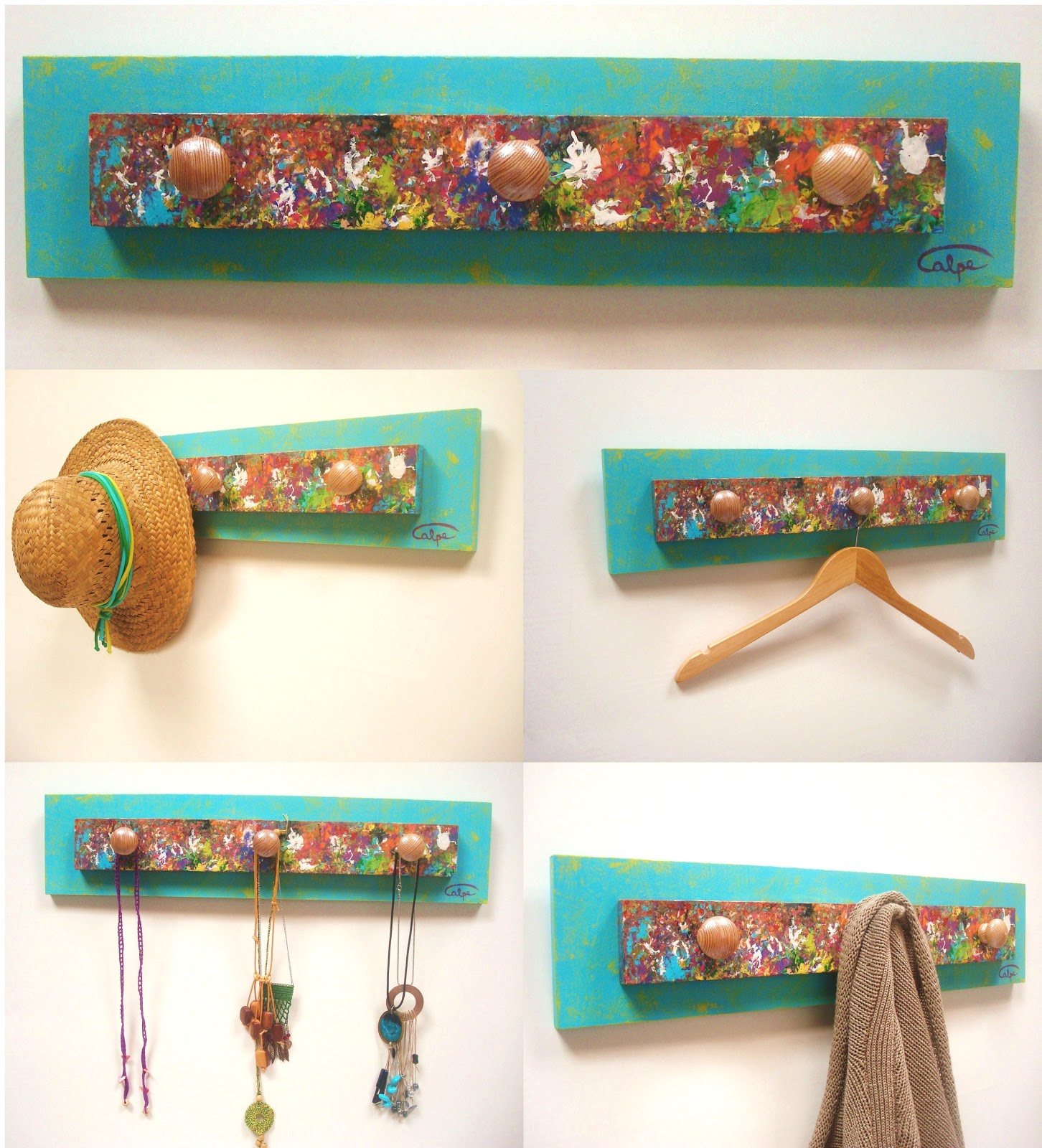 Calpearts muebles y accesorios pintados a mano for Bares decorados con madera