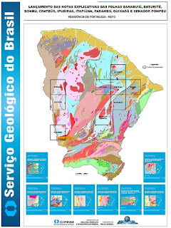 Serviço Geológico do Brasil finaliza mapeamento geológico de 27 mil km² do território do Estado do Ceará