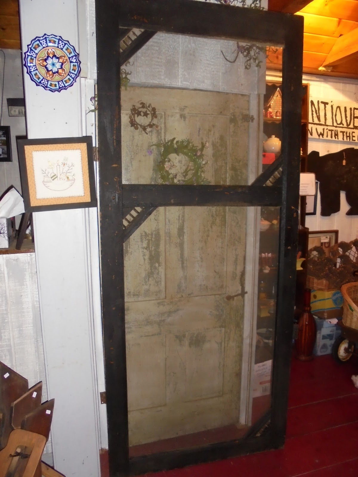 Log Cabin Antiques Gifts Tall Screen Door These Make Great Displays