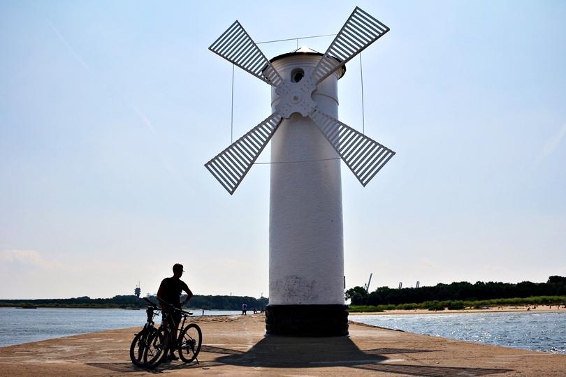 Świnoujście, cube, rower, wyprawa, niemcy, ahlbeck, heringsdorf, bensin, międzydrojne, aleja gwiazd, urlop, nad morzem, stawa młyn, latarnia morska, port, lifestyle,