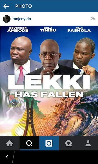 Toke Makinwa, Lagos Flood, Lekki Flood, News, Tax, Akinwunmi Ambode, Bola Tinubu, Babatunde Fashola,