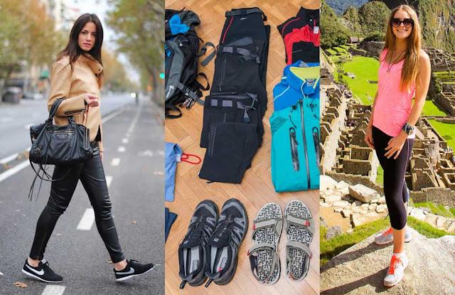 Como empacar los zapatos en un viaje
