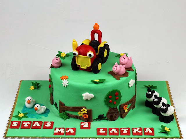 Tractor Tom Bday Cake - Kids Birthday Cakes in London