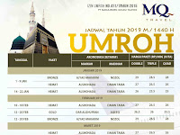 Jadwal Paket Umroh 2019 - MQ Travel