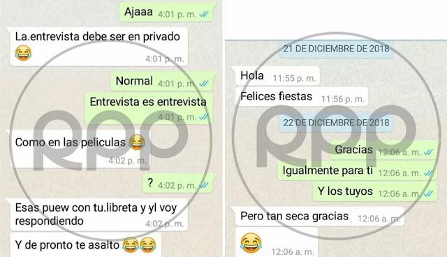 Chat WhatsApp Lescano