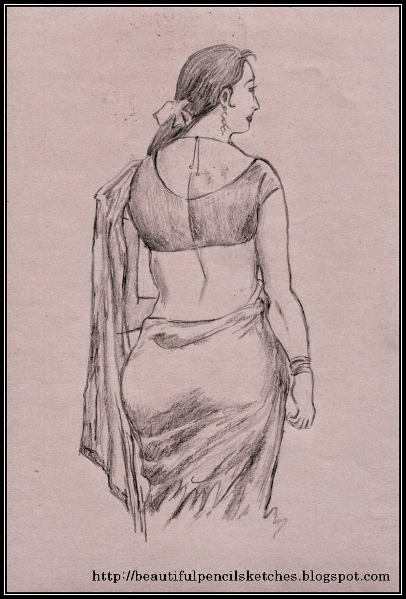 Beautiful Pencil Sketches Pencil Sketch Of Beautiful Indian