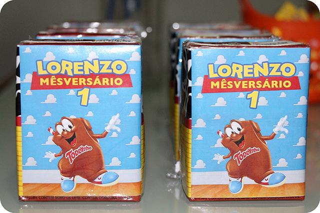 Embalagem do Toddynho Personalizada - Mêsversário com Decoração do Toy Story
