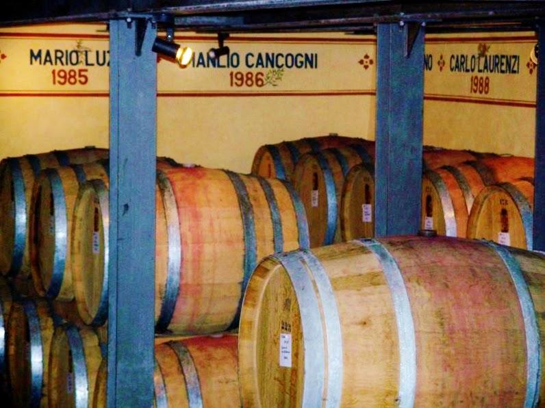 Wine cellar of Fattoria dei Barbi