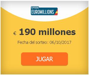probabilidades para jugar a los euromillones desde españa