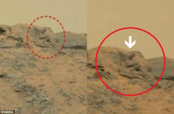 Foto Statua di Buddha su Marte | NASA ha nascosto immagini di piramidi e statue su Marte | VIDEO YouTube.