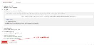 #Gambar 7 Cara Verifikasi Blog Ke Google Webmaster