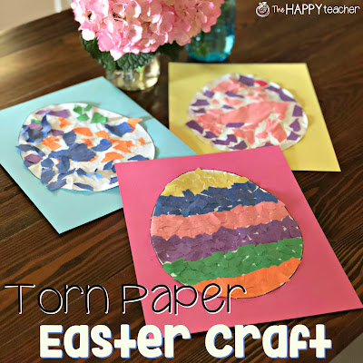 Easy Easter craft idea that also incorporates fine motor skills