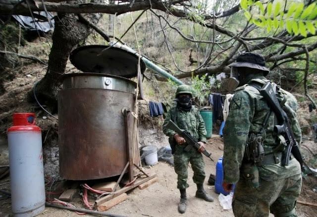 """Militares encuentran """"narco-laboratorio"""" en Mocorito Sinaloa"""