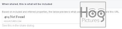 Memperbaiki 404 Not Found Saat Sharing Post di Facebook - Hog Pictures