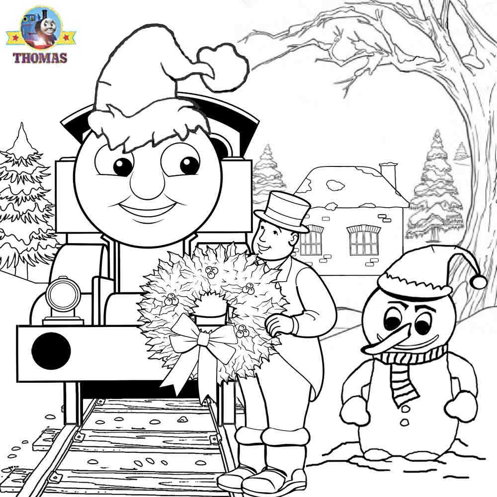 Thomas Christmas Coloring Sheets For Children Printable ...