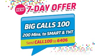 Smart Big Calls 100 offer 200 minutes calls valid for 7 days