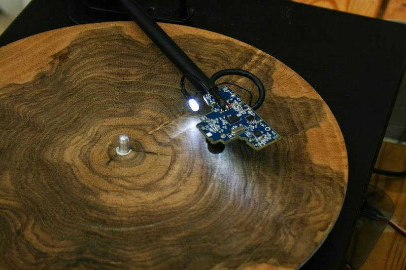 Weirdwood Slices Of Tree Trunk Played On A Record Player
