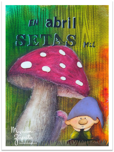 Mixed-media. Tema: Setas por Myriam Zapata