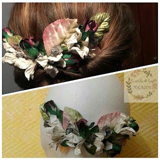 semicorona multicolor para invitada perfecta de boda