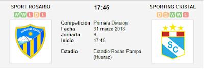 Sport Rosario vs Sporting Cristal en VIVO