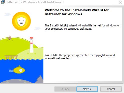 instalar Betternet vpn
