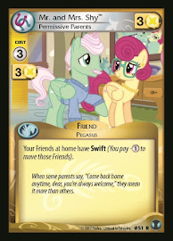 My Little Pony Mr. and Mrs. Shy, Permissive Parents Defenders of Equestria CCG Card