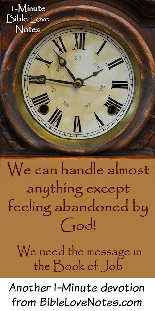 Feeling abandoned by God, Message of the Book of Job