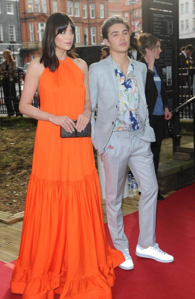 Actress Lilah Parsons Hot Stills In Orange Dress